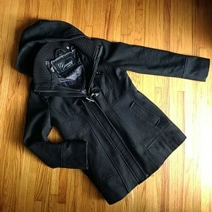 Guess hooded, A Line Pea Coat, Large Jacket